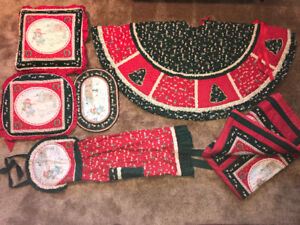 Christmas tree skirt and accessories