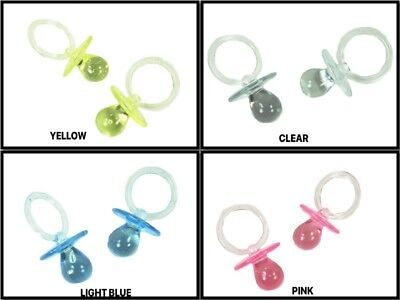 100 LARGE Acrylic PACIFIER Baby Shower Favor CHOOSE COLOR BULK BUY !!!](Buy Baby Shower Favors)