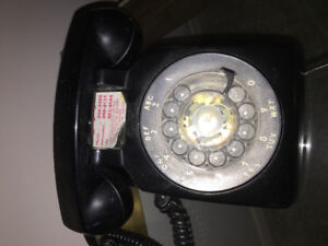 Vintage telephone  black in colour