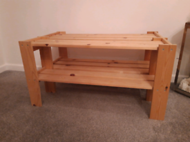 Shelves pine large shoe rack