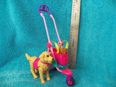 Barbie Strollin Pups Stroller Tote set Pet dog Taffy I really walk replacement