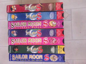 Lot of Sailor Moon VHS tapes