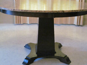 QUALITY CUSTOM GRANITE PEDESTAL TABLE FOR GENERATIONS TO KEEP