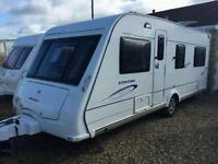 Compass corona 544 fixed bed 2008 touring caravan
