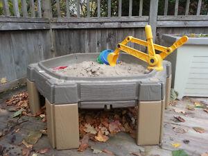 Outdoor toys - Sandbox, trikes, slide, basketball net, wagon Kitchener / Waterloo Kitchener Area image 1