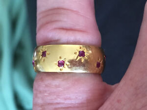 18k solid gold ruby ring