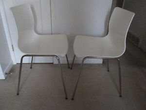 "Two Ikea "" ERLAND "" dining chairs"