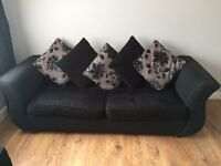 Dfs Joelle 4 seater & 2 matching foot stools