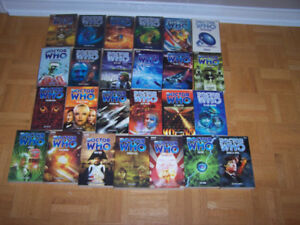 25 DOCTOR WHO- softcover books- excellent condition- rare
