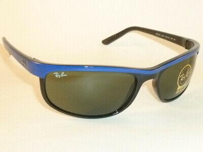 New RAY BAN Sunglasses PREDATOR 2  Top Blue On Black  RB 2027 6301 Green (Ray Ban Sunglasses Blue Lenses)