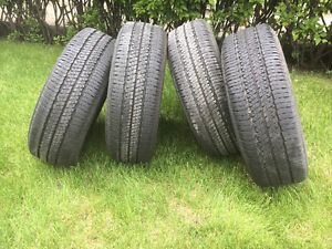 4 Bridgestone tires with rims