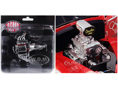 ENGINE & TRANSMISSION REPLICA BLOWN 426 HEMI DRAG GASSER 1/18 BY ACME A1800908E