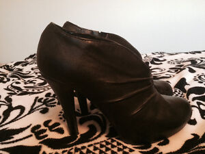 Black Booties from Le Chateau