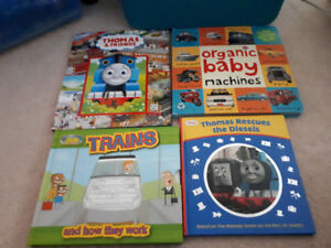 Four board books Thomas Trains and Machines