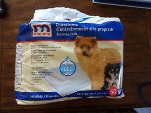Coussinets d'entraînement à la propreté - pipi pads - puppy pads