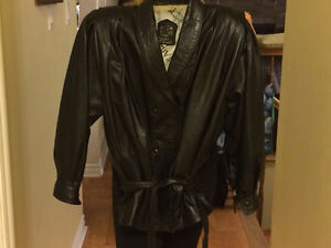 Italian lamb leather coat,made and purchased in Italy
