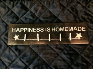 """Happiness is Homemade"" Sign"