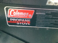 Coleman Two Burner Propane Stove with 3 Propane Tanks