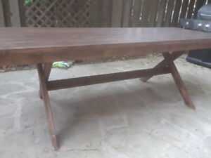 Solid pine wood table NEW big and spacious