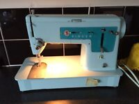 Vintage electric SINGER sewing machine