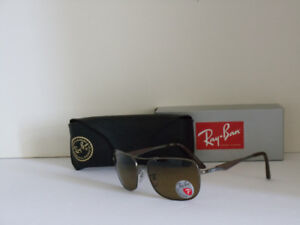 B/N RAY BAN POLARIZED AUTHENTIC SUNGLASSES,BROWNGRADIENT. $170.