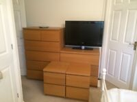2sets of drawers and 2 bedside cabinets