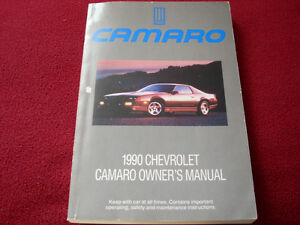 1990 Camaro owner's manual