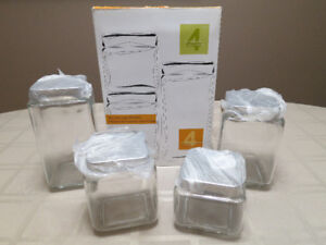Glass Canister Set - 4pc