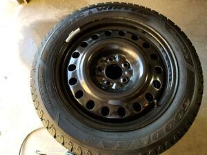 215/55R17 Honda Accord Winter Tires on Goodyear Tires
