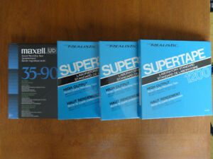 Reel to reel professional audio tapes for sale