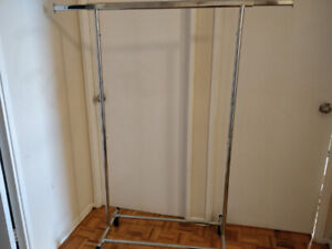 SELLING CLOTHING RACK WITH WHEELS