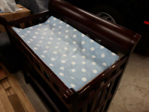 Wooden Changing Table and Pad