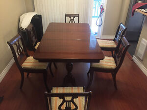 1950's dining room table and chairs
