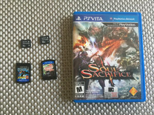Games and memory card for Sony PS Vita