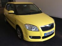 2008 58 Reg Skoda Fabia 1.9 TDI PD Sport Diesel, 105 BHP, 5 Door, 'Sprint' Yellow, Brand New MOT