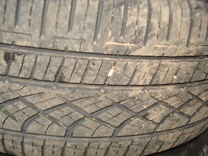 "15"" Set (4) All season tires 205X65X15"" on steel reems 5X100mm Kitchener / Waterloo Kitchener Area image 2"