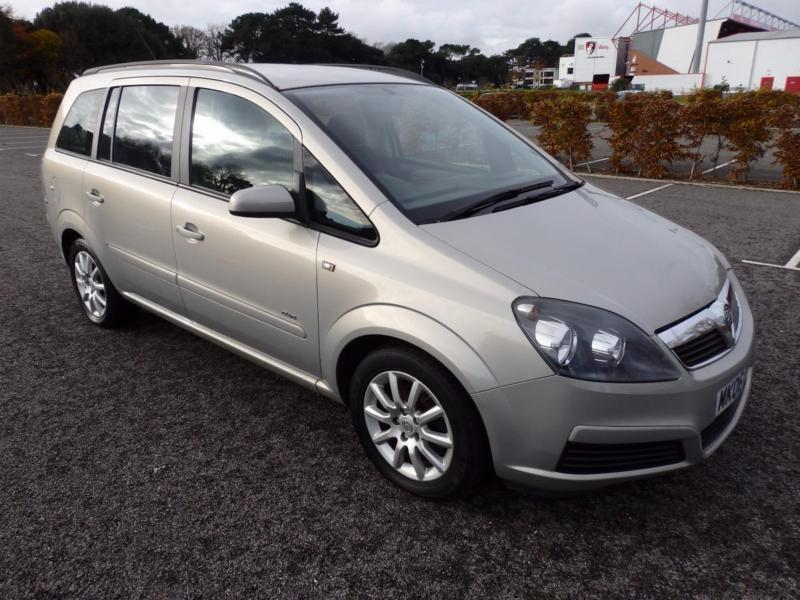 vauxhall opel zafira 16v a c 2006 club 55 000 miles hpi clear in bournemouth. Black Bedroom Furniture Sets. Home Design Ideas