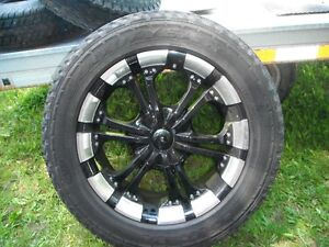 Chevy GMC 6 bolt 20 inch aluminum rims with Good year tires