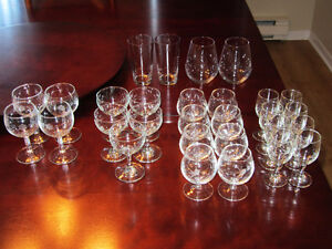 Assorted Brandy / Scotch / Shot, and small wine glasses