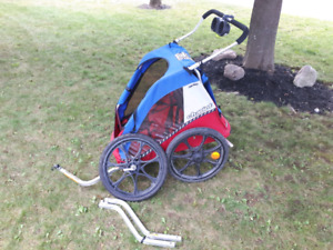 Chariot bike trailer and jogging stroller 2 seater