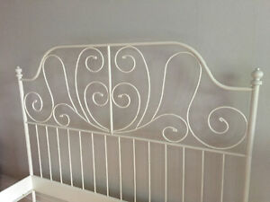 White IKEA Queen Bed frame
