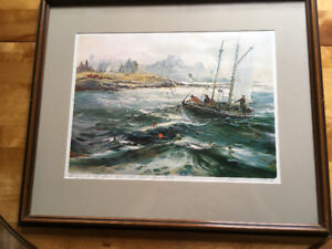 Joseph Purcell signed print