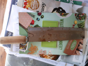 Vintage Chinese Vegetable Chefs Knife
