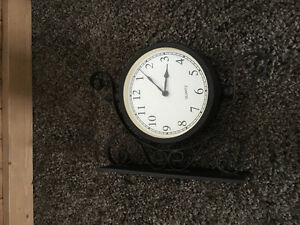 Garden Clock/Thermometer