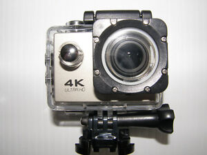 4k Ultra HD Action Camera with 2' screen & Wifi, 30m waterproof