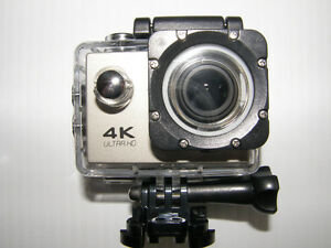 4k Ultra HD Action Camera with 2' screen & Wifi, 30m waterproof