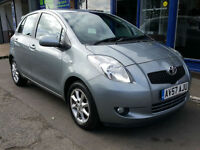 2007 TOYOTA YARIS 1.3 VVTI SR 5 DR MANUAL 22K MOT SEPT 2017