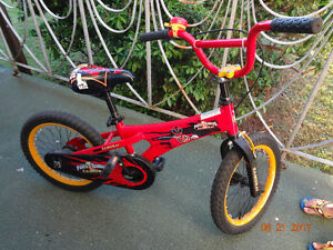 "Power ranger bicycle 18"" adjustable for age 3-7 yr"