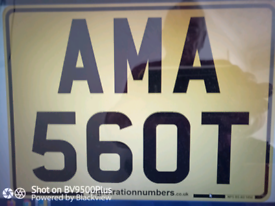 Private Number Plate.......AM A SCOT.......