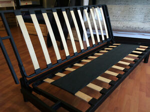 Futon Frame, Mattress, and Cover - NEW - Double size